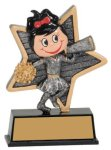 Little Pals Resin Trophy -Cheer Female Little Pals Resin Trophy Awards