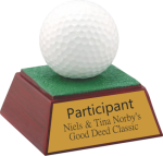 Golf Ball Resin Miscellaneous Resin Trophies