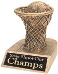 Basketball - Gold Resin Trophy Miscellaneous Resin Trophies