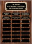 R1063 - Walnut Finish Plaque Monthly Perpetual Plaques