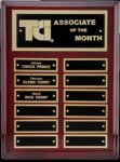 R1060 - Rosewood Plaque High Polish Finish Monthly Perpetual Plaques
