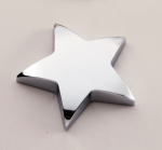 Chrome Star Paper Weight with Felt Bottom. Paperweights