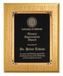 Gold Washed Oak Recognition Plaque Patriotic Awards