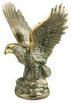 Gold Metal Eagle Trophy Patriotic Awards