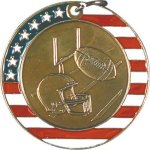 Football - Stars & Stripes Medallion Patriotic Awards