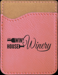 Leatherette Phone Wallet -Pink Phone & Tablet Cases