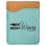 Leatherette Phone Wallet -Teal Phone & Tablet Cases