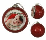 Red Glitter Ornament Photo Gift Items