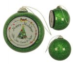 Green Glitter Ornament Photo Gift Items