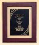 Rosewood Piano Finish Frame with Brass Plate Piano Finish Plaques