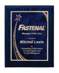 Wood Grain Star Plaque Award Recognition Plaques