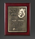 Cherry Finished Panel and Gold Tone Plate Recognition Plaques