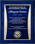 R2221 - Blue with a Blue / Gold Engraving Plate Recognition Plaques