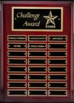R1061 - Rosewood Plaque High Polish - 24 Plates Recognition Plaques