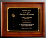 R2001 - Hardwood Shadow Box with Wooden or Velvet Backround Recognition Plaques