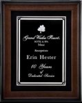 R1053 - Walnut Satin Finish Shadow Framed Plaque Recognition Plaques