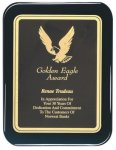 Black Piano Finish Plaque Rounded Recognition Plaques