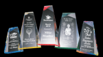 Faceted Wedge Acrylic Award Reflective Bottom Acrylic Awards