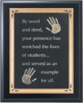 Solid Black Finish Recognition Plaque Religious Awards