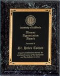 Black Marble Finish Recognition Plaque Religious Awards