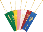 Stock Flat Card and String Dovetailed Ribbons