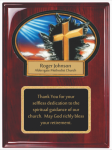 Rosewood Piano Finished Plaque with Resin Plaque Mount and Plate Sales Awards