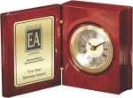 Rosewood Piano Finish Book Clock Sales Awards