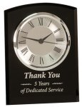 Black Glass Arch Self Standing Clock Sales Awards