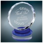 Round Crystal with Blue/Clear Base Sales Awards