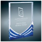 Blue Soaring Rectangle Acrylic Sales Awards