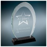 Oval Halo Glass with Black Base Sales Awards
