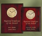 Piano Finish Wood Plaque Clock Sales Awards