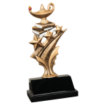 Tri Star Resin -Lamp of Knowledge Scholastic Trophy Awards