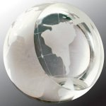 Crystal Globe Paperweight Secretary Gift Awards