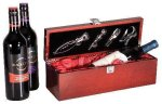 Single Wine Box With Tools -Rosewood Piano Finish Secretary Gift Awards