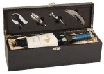 Single Wine Box With Tools -Black Finish Secretary Gift Awards