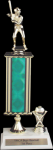 2 Hole 1 Column Riser Trophy Single Column Trophies