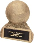 Basketball - Gold Resin Trophy Sports Figure Resin Trophies