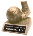 Soccer - Gold Resin Trophy Sports Figure Resin Trophies