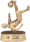 Male Soccer - Gold Resin Trophy Sports Figure Resin Trophies