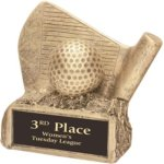 Golf - Gold Resin Trophy Sports Figure Resin Trophies