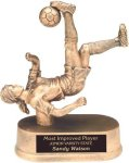 Female Soccer - Gold Resin Trophy Sports Figure Resin Trophies