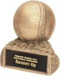 Baseball - Gold Resin Trophy Sports Figure Resin Trophies