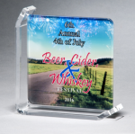 Sublimated Glass Awards Square Rectangle Awards
