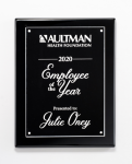Clear Acrylic Plate on Black High Gloss Plaque Square Rectangle Awards