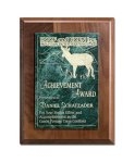 Walnut Panel and Green Marble Square Rectangle Awards