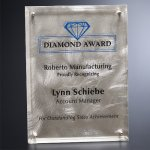 Silver Alloy Plaque Square Rectangle Awards