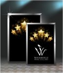 Gold Star Plaque Square Rectangle Awards