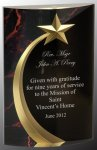 Red Marble Rounded Shooting Star Acrylic Star Acrylic Awards