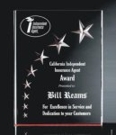 RIST-7 3 Dimensional Carved Star Plaque Star Acrylic Awards